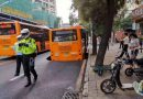 Bus Hangs Over 9ft Sinkhole After Rush Hour Collapse