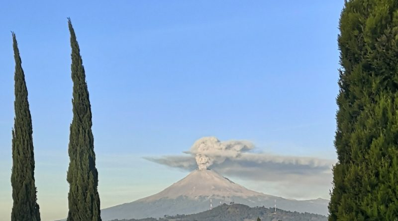 Day Of The Dead As Skull Emerges Above Smoking Volcano