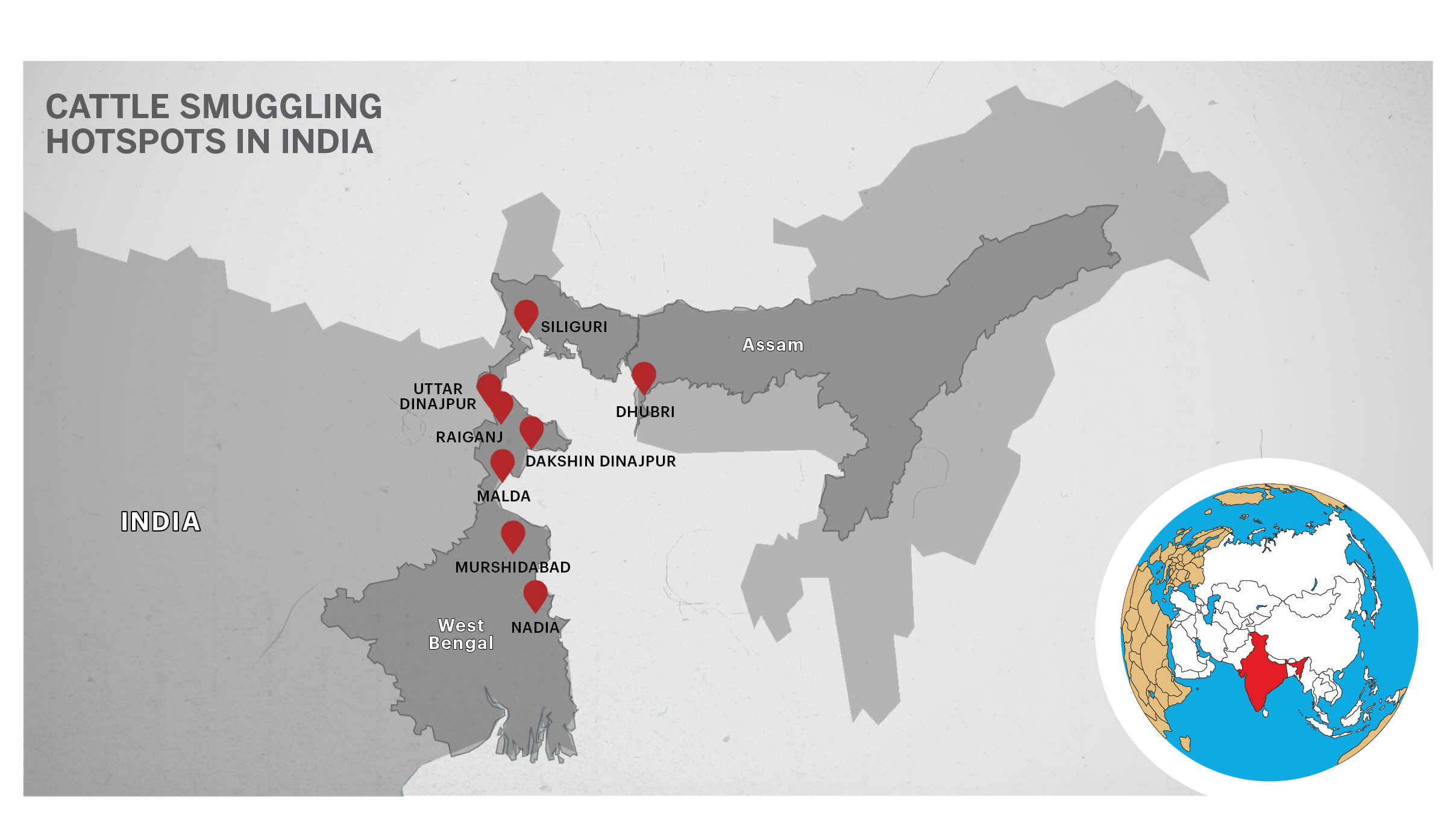 Cattle smuggling map